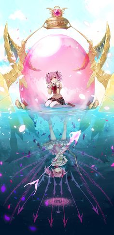Madoka Kaname in her sole gem/under water. Sweet