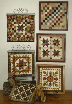 """Quilt Squares #6 is a series of small quilts. Frame the quilts using 12""""x 12"""" readymade frames. Designed by Lori Smith of From My Heart to Your Hands"""