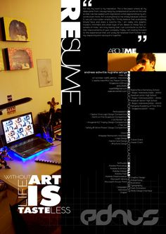 Sample Resume. I like the horizontal headings. Think about this for interior design....