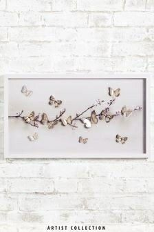 Buy Artist Collection Large Lasercut Butterfly by Ian Winstanley Frame from the Next UK online shop