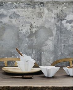 This is wall paper but is a great example of texture for a concrete finish.