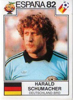 World Cup Story Harald Schumacher of Deutschland BRD Espana 82 - Panini Uefa Football, Football Icon, National Football Teams, Adidas Football, World Football, Football Kits, Football Stickers, Football Cards, 1982 World Cup