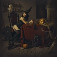 Matilda, Goth Girls, Tumblr, Halloween, Painting, Art, Witches, Connect, Photographers
