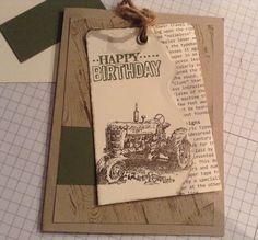 Harvest blessing, Hardwood, Masculine card, Birthday