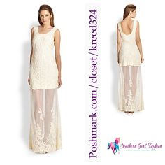 """FREE PEOPLE Lace Maxi Dress Candela Stella Gown Size Medium. New With Tags. $298 Retail + Tax.  Sheer off- white maxi with floral embroidered detailing all over.  Upper part is lined.  Bottom part is fully sheer with heavier embroidery around bottom.  *By Candela for Free People  Availability:  Off-white: Sizes M, L.   ❗️ Please - no trades, PP, holds, or Modeling.   ✔️ Reasonable offers considered when submitted using the blue """"offer"""" button.    Bundle 2+ items for a 20% discount!    Stop…"""