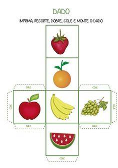 Notebook da Profª: Frutas Kindergarten Activities, Activities For Kids, Pre Kindergarten, Teaching Kids, Kids Learning, Card Games For Kids, English Fun, Food Themes, Kids Education