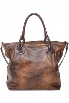 """Carla Mancini """"Shopper Tote"""" in Vintage Brown. - Merry Christmas to me! :-)"""