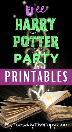 Free Harry Potter Party Printables