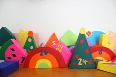 colorful diy advent calendar :)