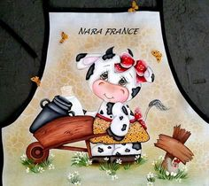 Tole Painting, Fabric Painting, Precious Moments Coloring Pages, Country Paintings, Cow Print, Hot Pads, Kitchen Art, Pyrography, Betty Boop