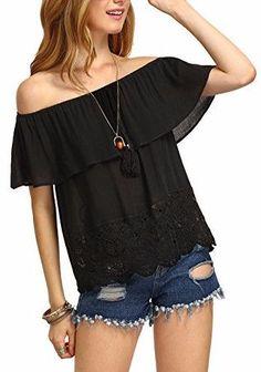 Latest Obsession:  Scarlett Off Shoulder Ruffle Tassel Top in Black Shop Now! #fashion #style #cute