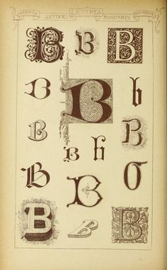 Materials and documents of architecture and sculpture : classified alphabetically Illuminated Letters, Illuminated Manuscript, Drop Cap, Penmanship, Letter B, Sculpture, Color Card, Magick, Alphabet