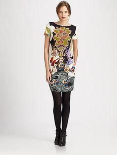 Fuzzi - Printed Shift Dress - Saks.com