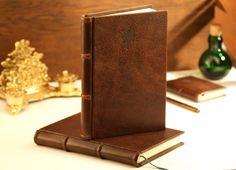 Notizbuch Lederbuch 15x21cm 144 Seiten mit Goldrand - Zeitreise-Shop