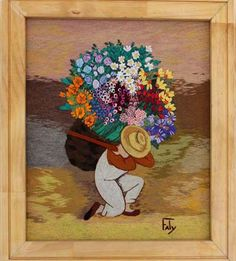 Garden Embroidery, Embroidery Flowers Pattern, Silk Ribbon Embroidery, Applique Patterns, Embroidery Art, South American Art, Sunflower Art, Creative Embroidery, Mexican Folk Art
