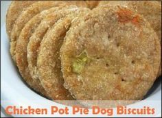 Chicken Pot Pie Dog Biscuits