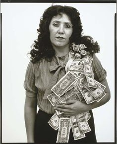 RICHARD AVEDON  Petra Alvarado, on her birthday, factory worker, El Paso, Texas, April 22, 1982, 1982  gelatin silver print, 56½ x 45½in. (143.5 x 115.6cm.)