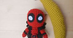 There's a thing I think all of you need, and that's a tiny Merc With A Mouth plushie.  Yup, for this week's post I've written a Deadpool pat...