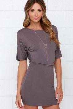 Hold Me Tight Dusty Purple Dress at Lulus.com!