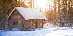 These Cozy Photos Of Log Cabins In The Snow Will Make You Feel Extra Hygge