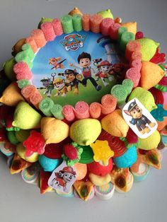 Patrulla Canina Candy Bouquet, Candy Store, Sweet Cakes, Sweet Treats, Birthday Cake, Sugar, Paw Patrol, Cocktails, Kabobs