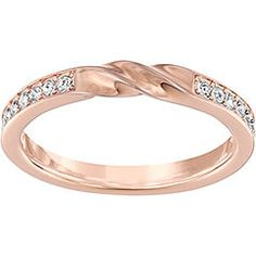 7f54314b3 Swarovski Curly Ring - Rose gold Swarovski Ring, Swarovski Crystals, Pave  Ring, Sparkles