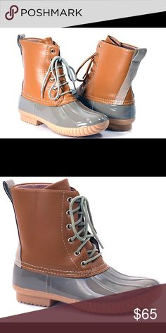 🎉1 HR SALE🎉 Duck Boots! This listing is for gray. These are selling like crazy for fall 🍁🍁🍁 $65 each or $110 for 2 pairs. Other colors available are black floral, burgundy, blue, and orange. Select lining in each boot to keep you comfy. Stitched synthetic rubber sole for durability and grip 😊 Price FIRM unless bundled. Shoes Winter & Rain Boots