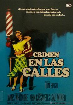 "Crimen en las calles (1956) de Don Siegel. Un trabajador social (James Whitmore) intenta ayudar a un grupo de adolescentes, miembros de la pandilla ""The Hornets"", y a su atormentado líder. Comic Books, Comics, Socialism, Crime, Street, Working Man, Law, Group, Cartoons"