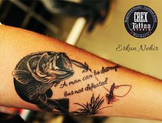 Best tattoo for guys forearm quotes words ideas S Tattoo, Sleeve Tattoos, Tattoo Quotes, Unique Tattoos, Small Tattoos, Tattoos For Guys, Hook Tattoos, Fish Tattoos, Heart Tattoos