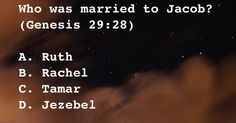 Who was married to Jacob?