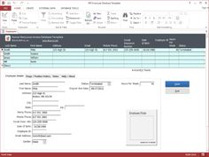 Directory of Shareware Hr Employee Ms Access Database Template Shareware Version 110 By