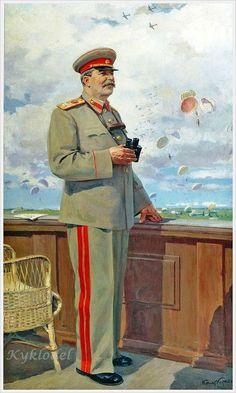 Giclee Print: Stalin at Military Air Show, 1949 by Konstantin Kitayka : History Essay, Roman History, Russian Constructivism, Back In The Ussr, Joseph Stalin, Communist Propaganda, Socialist Realism, Military Art, Military Outfits