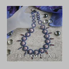 * * * TUTORIAL ONLY * * * Bead Tutorial : Sweet Pearl Necklace  ✹ This tutorial will teach you how to beadweave a beautiful pearl necklace. A simple yet elegant piece that can be worn anywhere. My own design, it can be made any length, with unique stitches created to hold flat freshwater pearls in perfect placement to make them pop. The back closure is a normal button, (or any large bead, stone or gem can be used), with a beaded button hole to secure it. A page with alternative color schemes…
