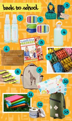 Gear Up and Go Green for Back to School | via The Honest Company blog