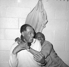 Duke Ellington (left) and Louis Armstrong in dressing room at New York's Madison Square Garden on Feb, 23, 1970, for a musical tribute sponsored by the NAACP (photo: Ed Ford)