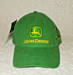 d4c467ffeb157 John Deere Trigreen Equipment Embroidered Adjustable Green Cap Hat New With  Tags  JohnDeere Richardson 112