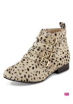 Mara Suede Buckle Boots