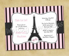 Eiffel Tower Paris Bridal Shower by InvitingExpressions on Etsy, $19.50