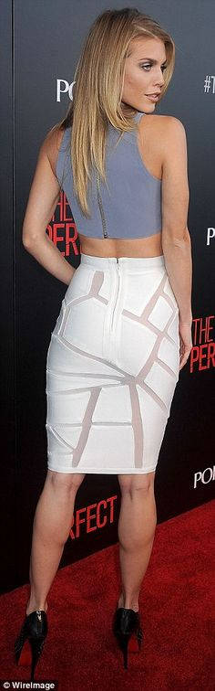 Fit figure:AnnaLynne showed her fit figure in the curve-hugging ensemble...