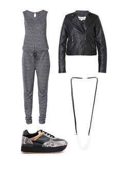 Tarde de Shopping: Cazadora MISSING JOHNNY, Mono ONLY, Collar PILGRIM, Zapatillas SIXTYSEVEN