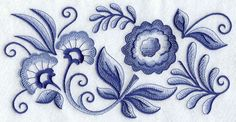 Blue Delft Artist's Patterns | Delft Blue Flower Fiesta Border