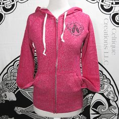 Small Pink Sweatshirt with Ghillie Dance Shoes and Celtic Heart Zip Up | celtique_creations - Clothing on ArtFire
