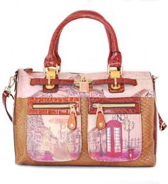 Nicole Lee CLAIRE Telephone Booth Travelers Bag - Handbags, Bling & More!