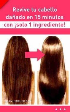 Revive tu cabello dañado en 15 minutos con ¡solo 1 ingrediente! Beauty Care, Beauty Hacks, Hair Beauty, Cabello Hair, Monat Hair, Damaged Hair Repair, Hair Growth Tips, Brunette To Blonde, Hair Blog