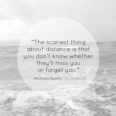 cool the scariest thing about distance is that you don't know whether the... Check more at https://quotesviral.net/the-scariest-thing-about-distance-is-that-you-dont-know-whether-the/