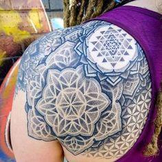 awesome Geometric Tattoo - My sacred geometry & dotwork tattoo done by Ryan Smit. - awesome Geometric Tattoo – My sacred geometry & dotwork tattoo done by Ryan Smith at Foothills Ta - Geometric Cat, Geometric Tattoo Design, Geometric Tattoos, Yantra Tattoo, Mandala Tattoo, Trendy Tattoos, Cool Tattoos, Beautiful Tattoos, Tatoos