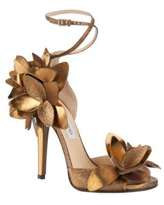 Metallic Copper Shoes perfect for under a wedding dress