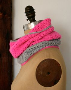 Whit's Knits: Two-Color Crocheted Cowl - The Purl Bee - Knitting Crochet Sewing Embroidery Crafts Patterns and Ideas!