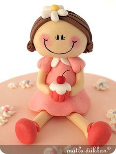 Fondant girl #diy #crafts #wedding www.BlueRainbowDesign.com