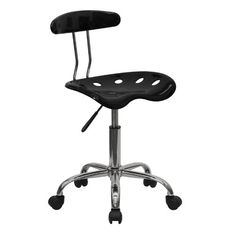 Flash Furniture Wine Red Office / Task Chair with Tractor Seat and Chrome Frame Cheap Office Chairs, Home Office Chairs, Home Office Furniture, Furniture Decor, Classroom Furniture, Kitchen Furniture, Furniture Design, Rolling Office Chair, Tractor Seats